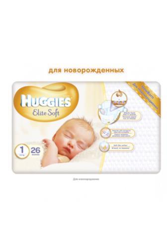 Huggies Elite Soft č.1 26 ks