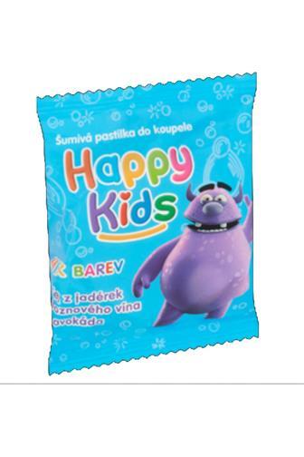Happy kids šumivé pastilky do koupele 40 g