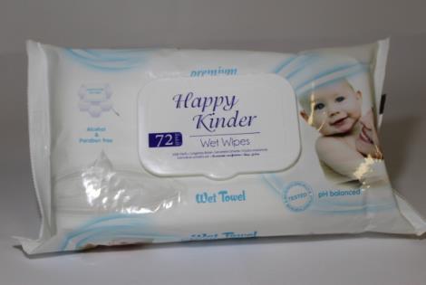 Happy Kinder vlhčené ubrousky 72ks