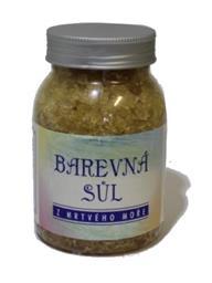 Karima Mrtvé moře Sůl s vůní citronu žlutá koupelová, barevná sůl 500 g